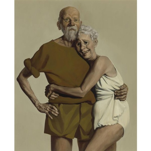 Adorable and fashionableJohncurrin, John Currin, El Art, Currin 1993, Old Couples, Engagement Artartist, Art Group, Beautiful Art, Beautiful Things