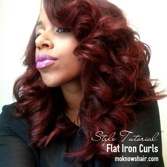 hairstyles with front bangs : Flat iron curls...YouTube