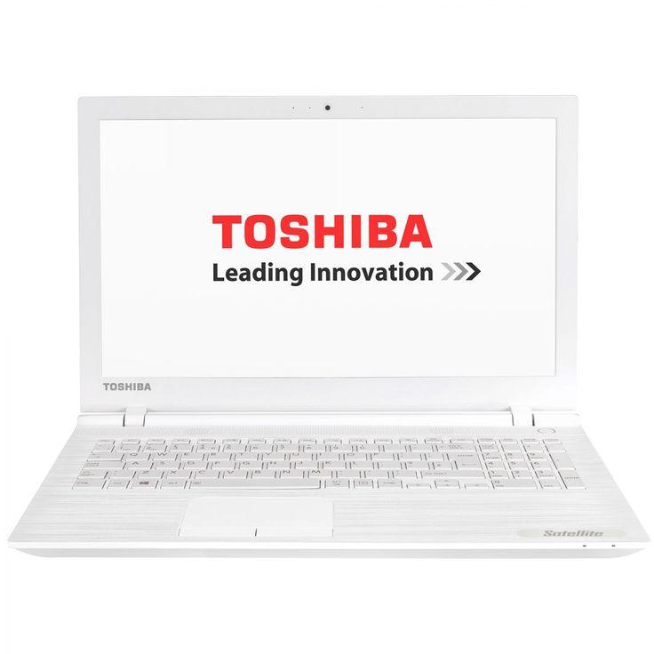 "Laptop Toshiba Satellite C55-C-173 cu procesor Intel® Celeron® Dual Core™ N3050 1.60GHz, Braswell, 15.6"", 4 GB, 500GB, DVD-RW, Intel® HD Graphics, Free DOS, White - eMAG.ro"