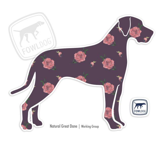 Great Dane Natural Decal Three Styles Great Dane Facts Dane