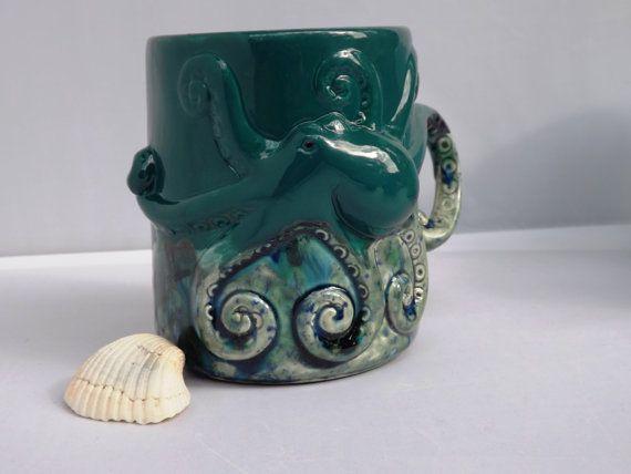Octopus Squid Tentacles Mug Handmade Ceramic by CreativityHappens