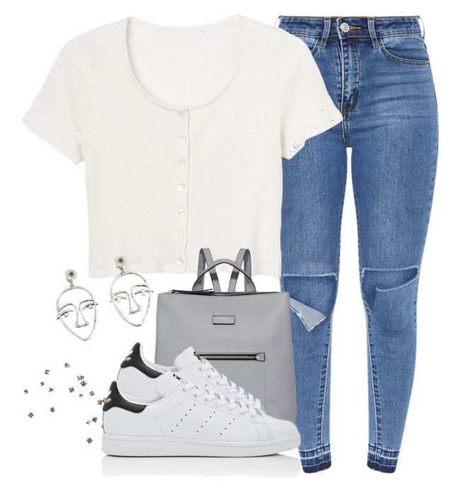 been gone 4 a while . by thrashdevil on Polyvore featuring polyvore fashion style Quinny adidas Fiorelli MANGO clothing