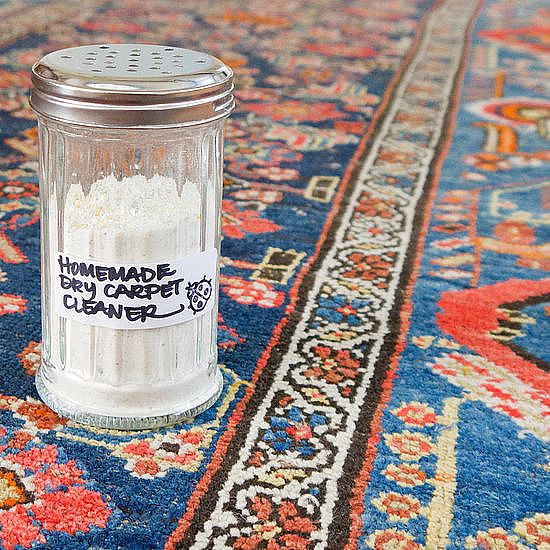 Dry Carpet Cleaner: If you've got wall-to-wall carpeting, then this dry carpet cleaner is perfect for you. Sprinkle it on, and let it do its job. Vacuum to reveal fresh and clean rugs.