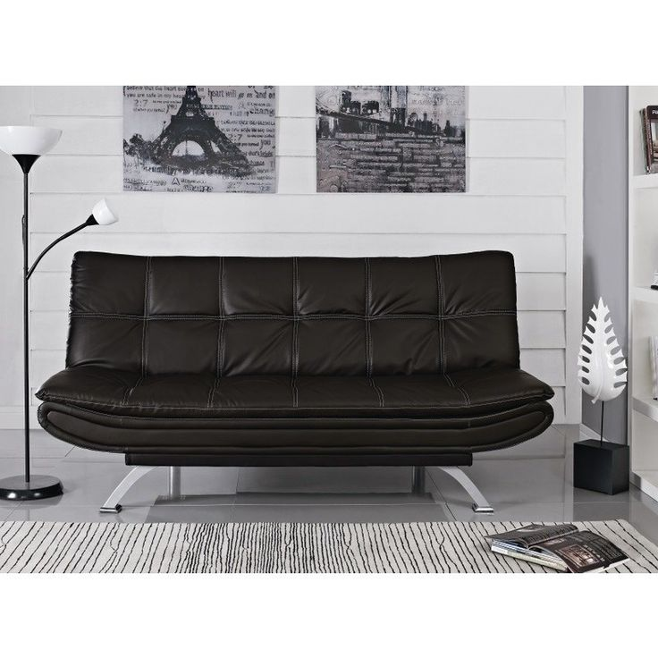 The 25+ Best Ideas About Black Leather Sofa Bed On Pinterest