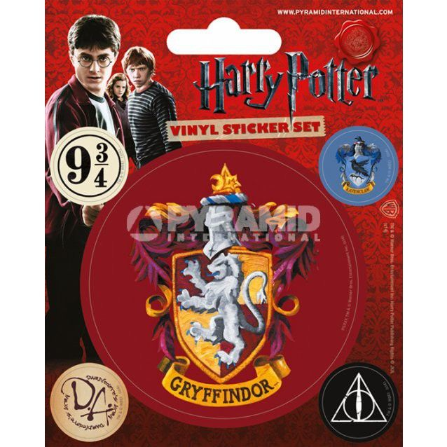 Pack de 5 Stickers Gryffondor Harry Potter