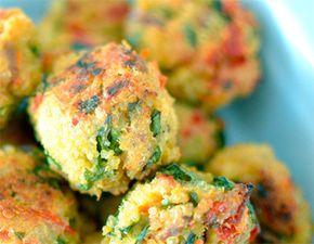 Albóndigas de Quinoa (se puede sustituir el pan rallado por pan rallado sin gluten)