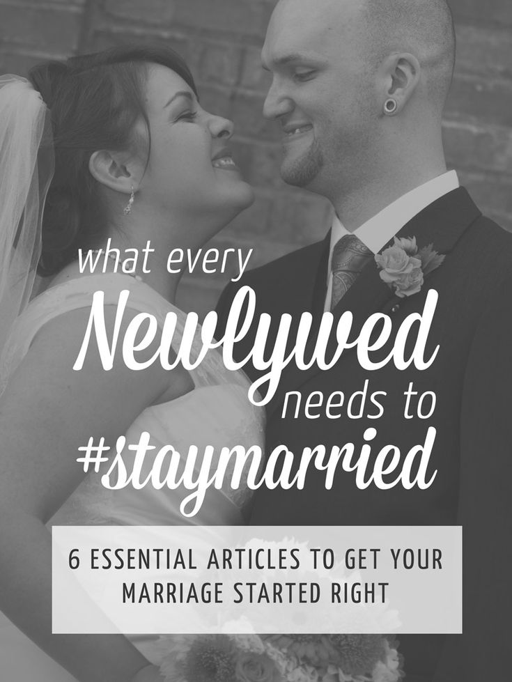What Every Newlywed Needs to #staymarried