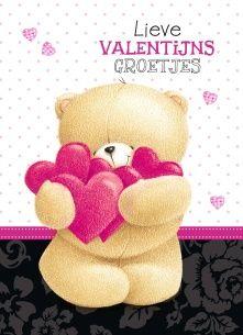 Valentijnskaart - lieve-valentijns-groetjes-roze-harten