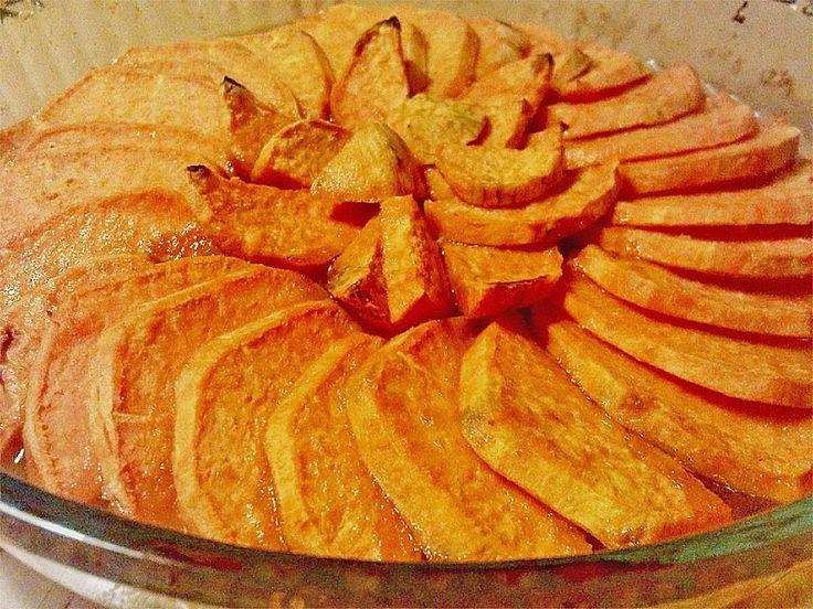 Glasierte Süßkartoffeln