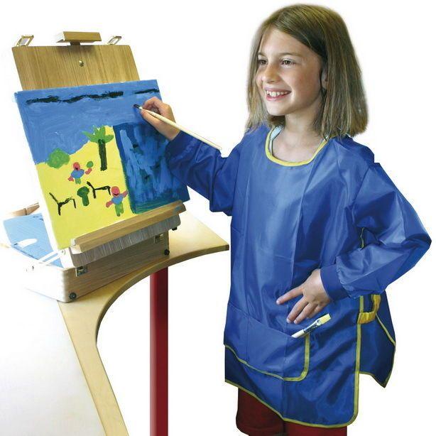 Malkittel für Kinder blau Universalgröße hochwertig!