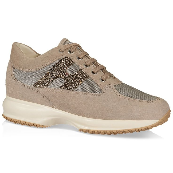 Beige leather Interactive sneakers Hogan OpQV4oWPS