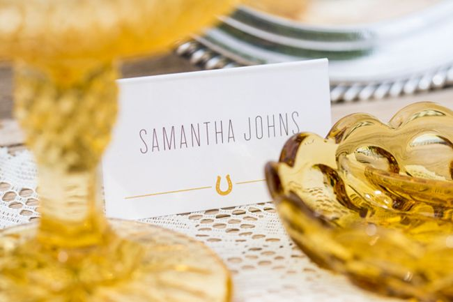 Western styled wedding place card inspiration - http://fabyoubliss.com/2014/08/29/western-styled-wedding-inspiration at Legends Ranch Las Vegas