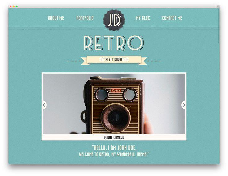 retro portfolio theme
