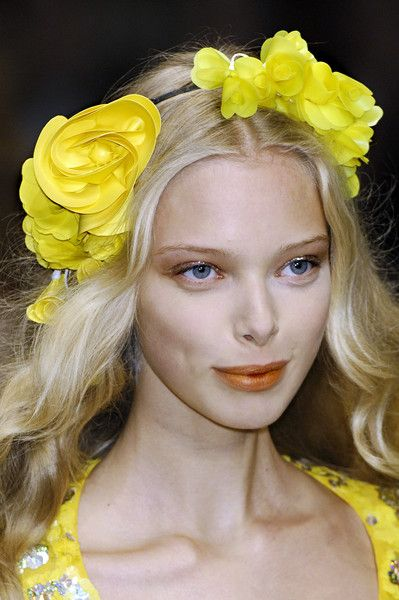 .Fashion Models, Mellow Yellow, Ss 2008, Cheer Yellow, Fabulous Hair, Flower Girls, Sonia Rykiel, Rykiel Ss, Yellow Flower