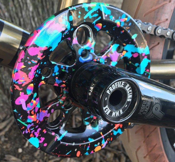 Madera - Party Paint Signet Full Guard Sprocket  Details: http://bmxunion.com/daily/madera-party-paint-signet-sprocket/  #BMX #bike #paint #color #art #fashion #design #sprocket