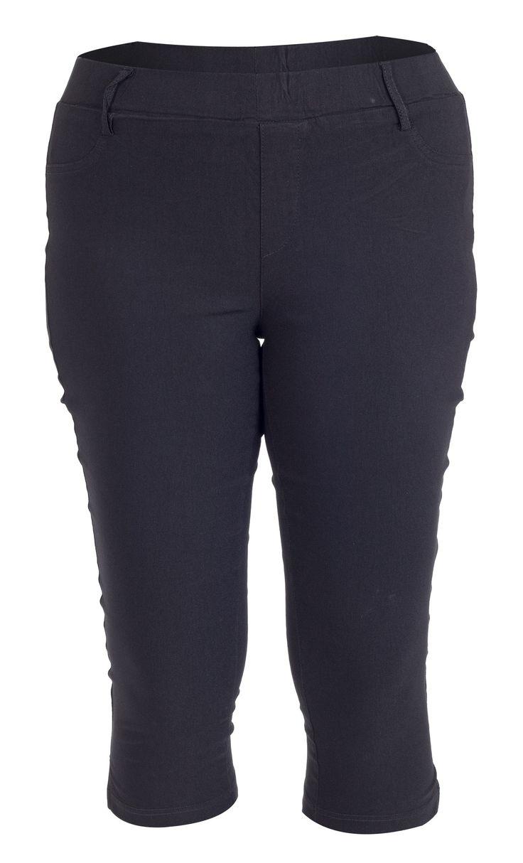 Mega fede Strækbare sorte capri leggings Studio Modetøj til Damer i behagelige materialer