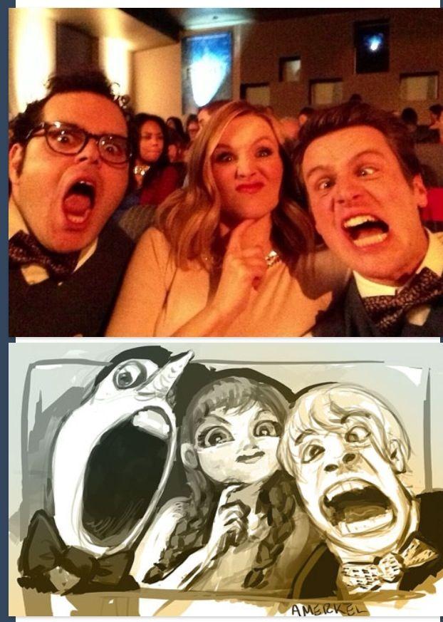 Haha frozen! Josh Gad Kristen Bell Jonathan Groff