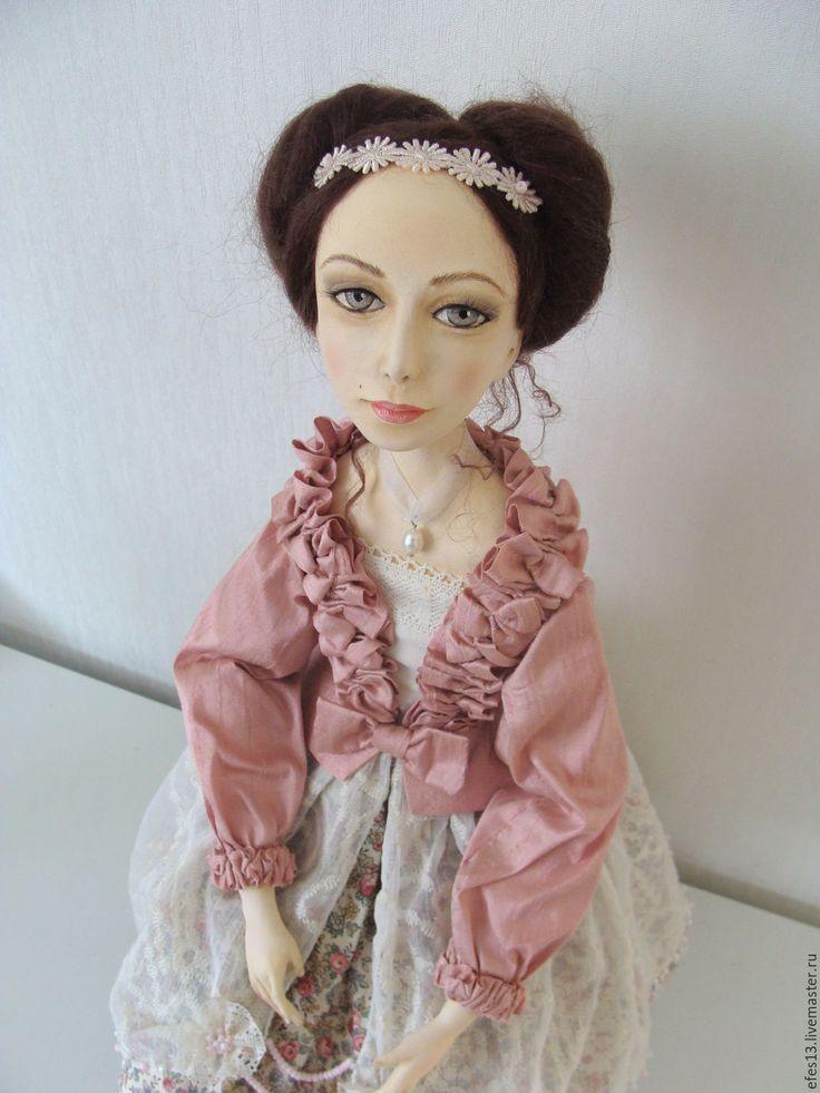 """Купить Коллекционная кукла из серии Жемчужина """"Розовый Жемчуг"""" - розовый, девочка, коллекционная кукла"""