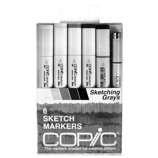 <div>This 6-piece Sketch set is the perfect way to begin building your marker collection. Carefu...