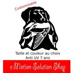 Sticker Autocollant Chasse chien et canard modèle 2 à personnaliser à votre taille
