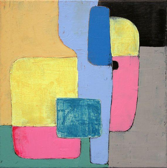 Geometric painting, Minimalist painting, abstract painting, small oil painting, original painting on canvas