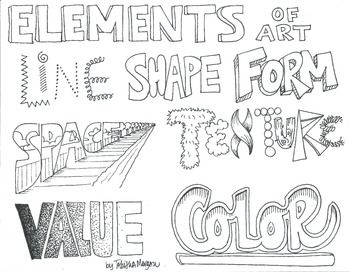 Every art teacher need the illustrated Elements of Art handout. This is a good…