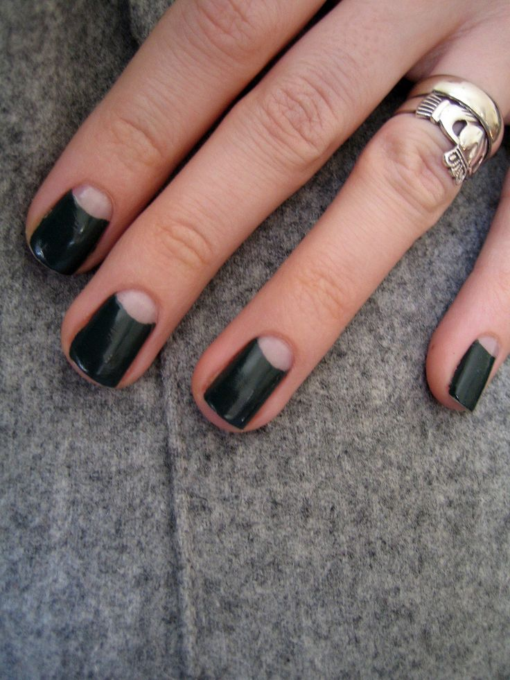 moon manicure ideas