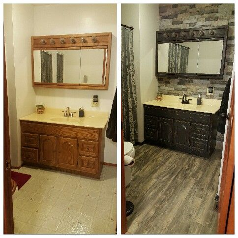 My new Bathroom Remodel! So in love with the Airstone wall!