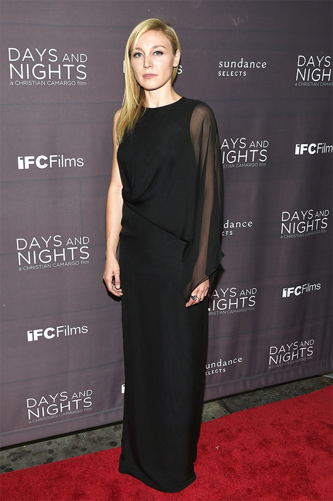 Juliet Rylance in Jeffrey Dodd SS15 overlay gown