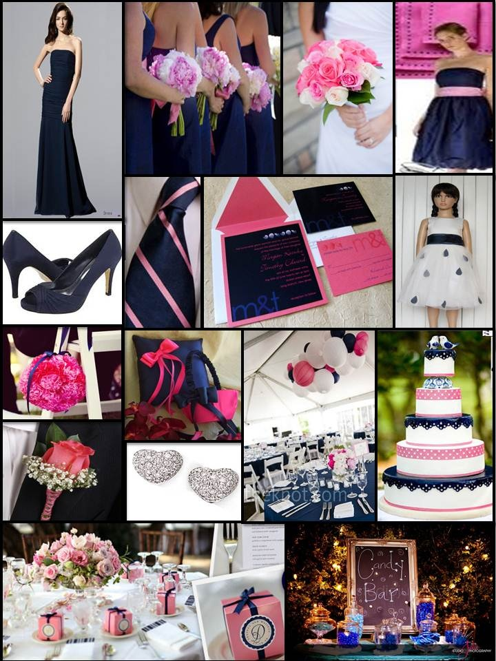 Montreal Wedding Planner - An English Rose, Luxury Lifestyle Weddings - Navy Blue & Pink