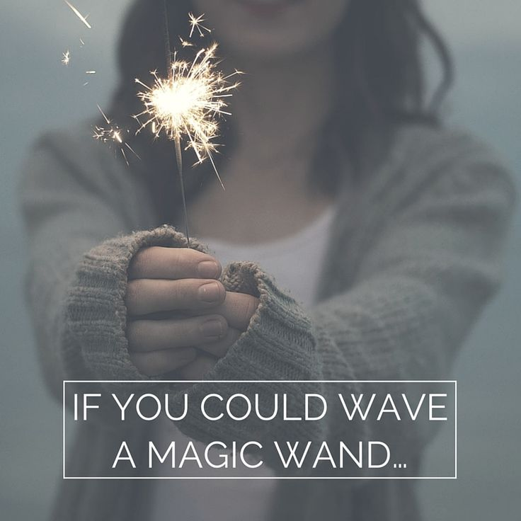 IF YOU COULD WAVE A MAGIC WAND…