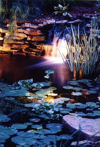 Best 25 Pond Lights Ideas On Pinterest Pond Fountains Ponds And Garden Waterfall