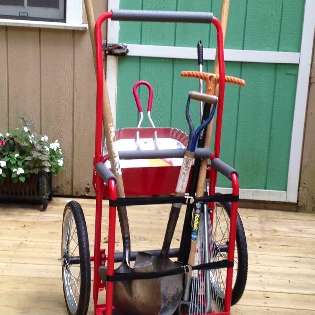 Garden Tool Cart Repurposed Welding Cart From Harbor