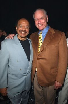 #LarryHagman with Sherman Hemsley #Dallas