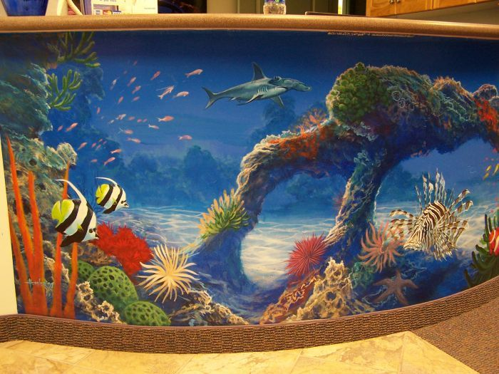 Best 25 ocean mural ideas on pinterest painting murals for Underwater mural ideas
