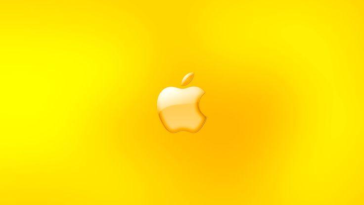 Yellow Mac Apple - http://1080wallpaper.net/yellow-mac-apple.html