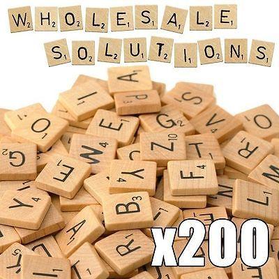 Carrés De Scrabble x 200 Bois Lettre Noir Artisanat Alphabet Jeux société in Jouets et jeux,Jeux de société,Jeux de société, traditionnels | eBay