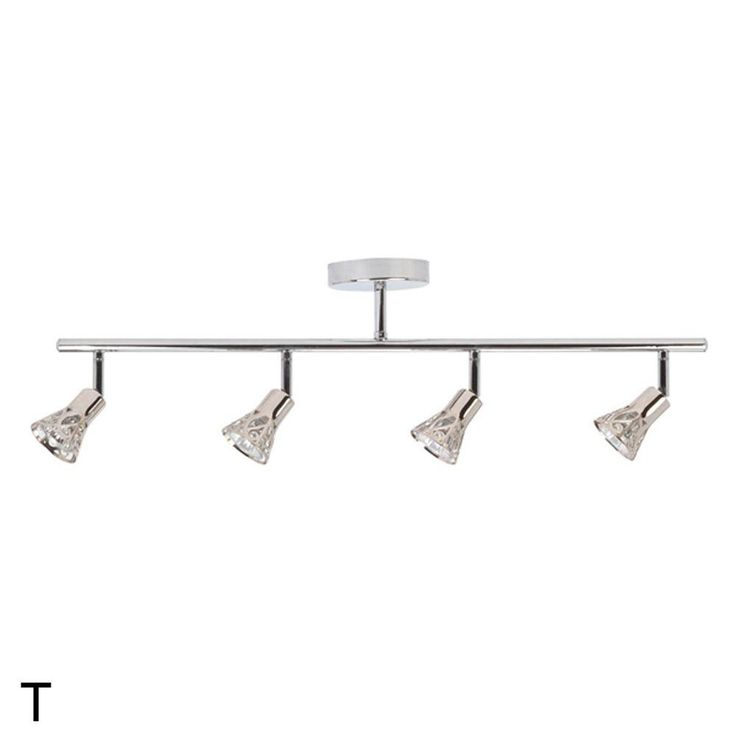 Globe Electric Fiona Collection 4 Lamp Chrome Track