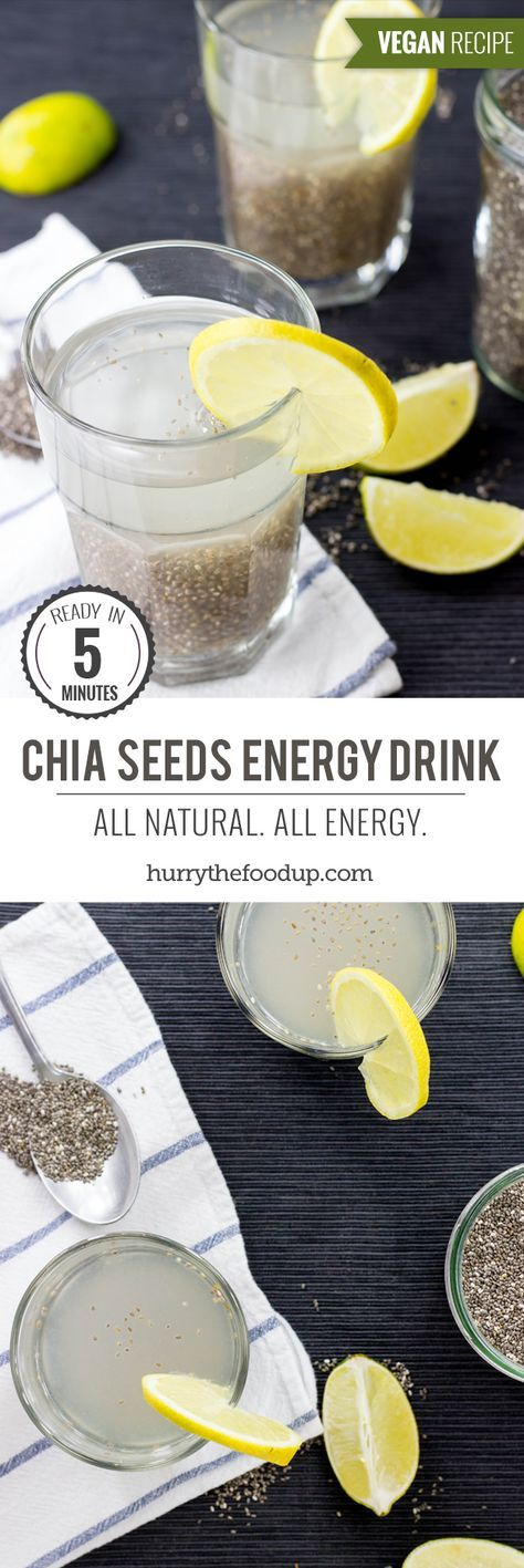 Powerful Chia Seeds Natural Energy Drink - Chia Fresca / Iskiate #drink #chia   hurrythefoodup.com
