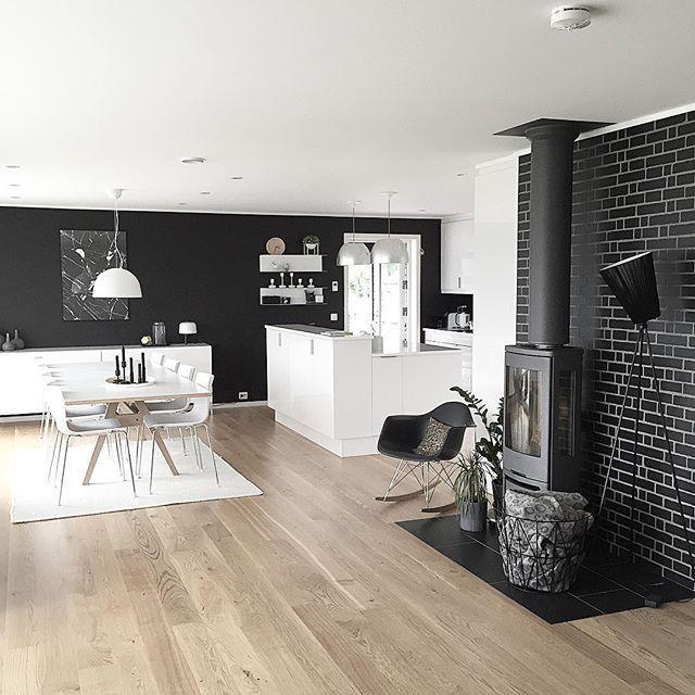 vistas fiordos pared negra estilo nórdico decoración negro decoración en blanco casa noruega casa nórdica blog decoracion interiores