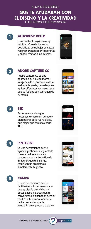 5 apps gratuitas que te ayudarán con el diseño y la creatividad