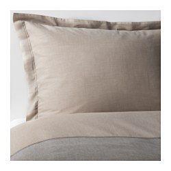 IKEA - MALOU, Housse de couette et taie, 150x200/65x65 cm, , Teint sur fil; le fil est teinté avant d'être tissé. Confère une très grande douceur au linge de lit.Linge de lit tissé très fin et très serrépour une qualité très douce et résistante.Vous pouvez facilement changer le décor de votre chambre avec cette housse de couette qui présente des couleurs différentes de chaque côté.Les boutons-pression cachés maintiennent la couette bien en place.