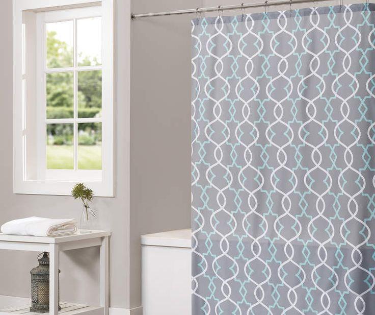 Gray Spring Lattice Shower Curtain, At Big Lots.