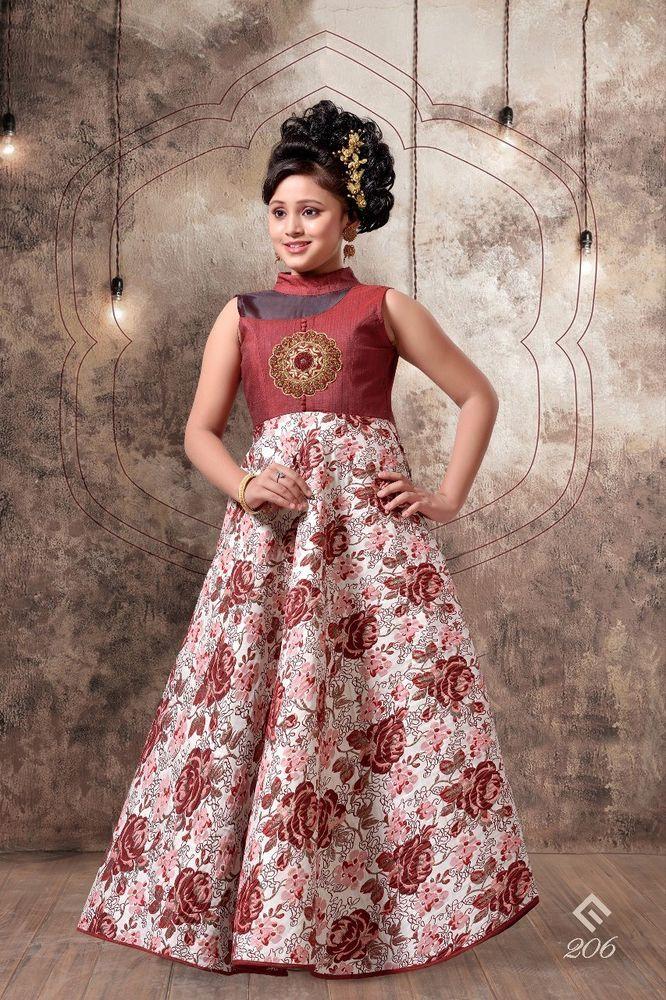 0941f1ec5 2018 New Arrival Children Wear Gown Fancy Indian Designer Gown For ...