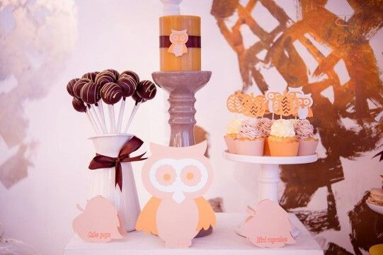 Autumn, owls and pumkin candy bar - Boheme delices francaises