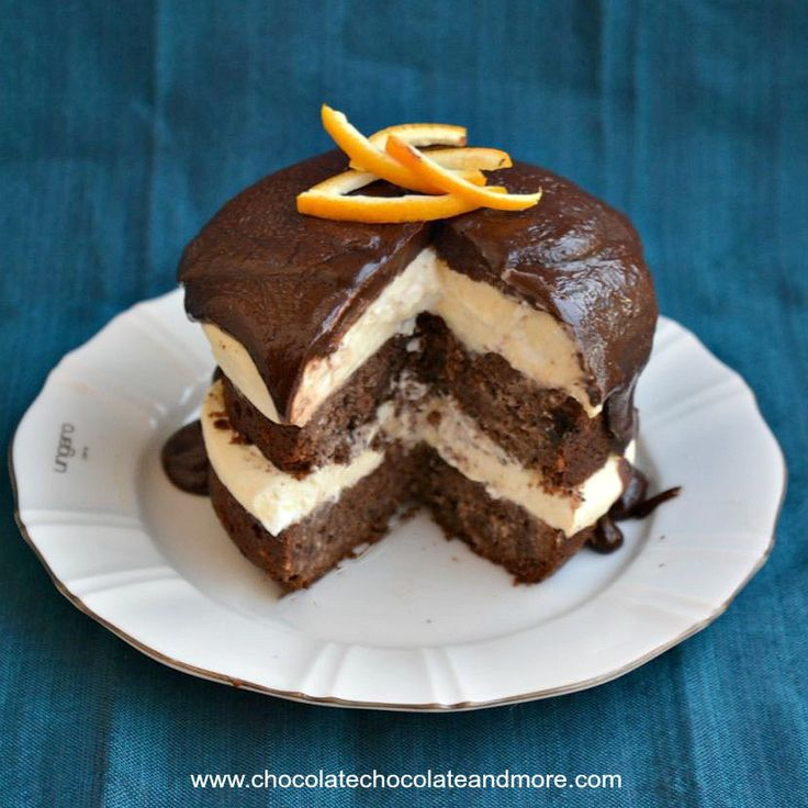 Chocolate Coconut Orange Mousse Cake - Chocolate Chocolate and More!
