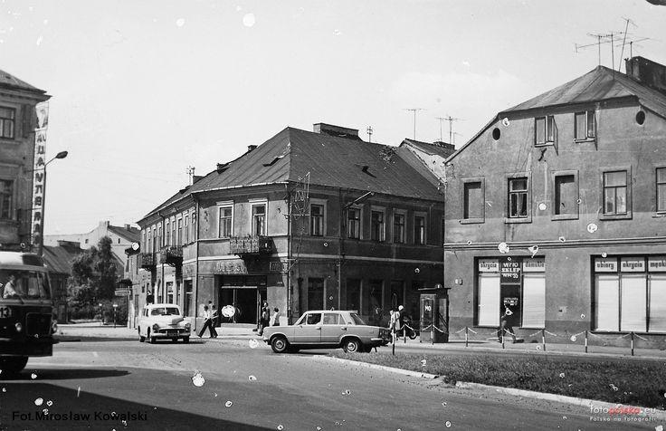 ul. Wałowa  (Podwale Żydowskie / Podwale / Podzamcze), Radom - 1975 rok, stare zdjęcia