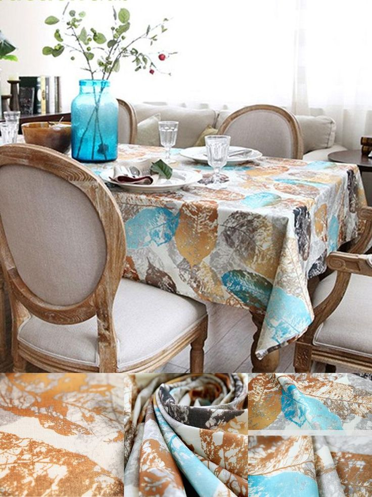 [Visit to Buy] Fudiya 3D Stereo Tablecloth Fabric Nappe Flax Leaves Vivid Table Cover Healthy Linen Printed Tablecloth Accept Custom  #Advertisement