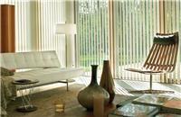 Cortinas Verticales para Living - Bandas verticales de tela orientables y deslizantes. Living room blinds curtains windows covering decoración ventanas salón sala