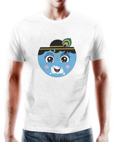 Buy Tshirts Online India Shree Krishna White T-Shirt – PosterGuy